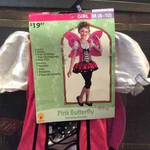 NWT Pink Butterfly costume size medium 8-10